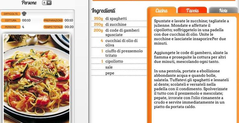 Ricette italiane di cucina